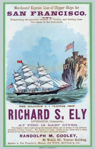 Clipper Ship - Richard S. Ely (Advert)